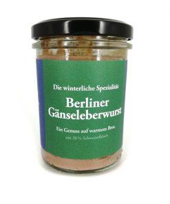 Original Berliner Gänseleberwurst 175g Glas