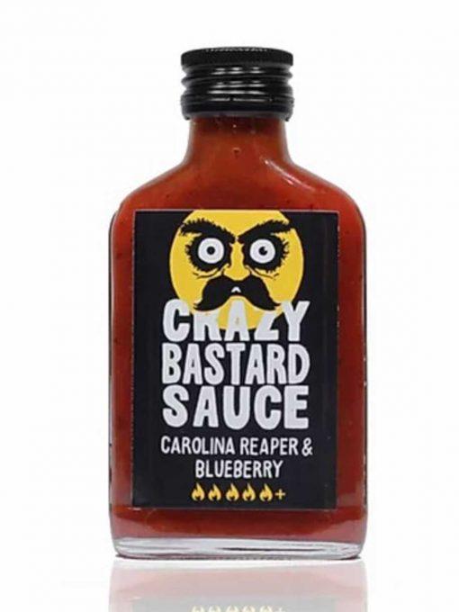 Crazy Bastard Sauce Carolina Reaper & Blaubeere