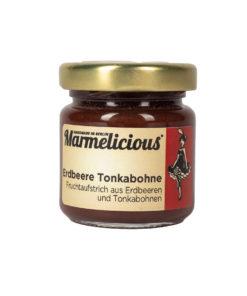 Marmelicious Fruchtaufstrich Erdbeere Tonkabohne 80gr